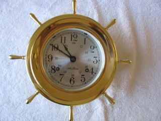 Vintage Seth Thomas Ships Clock,  Helmsman, . . .  Mariner. . . .  Working photo