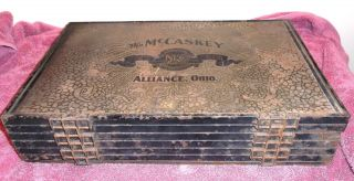 Antique Metal Mc Caskey Register Co Invoice Ticket Registration Method - Ohio photo