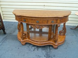 50282 Pulaski Cherry Server Buffet With Curio Cabinet Bottom photo