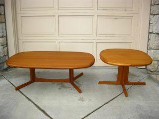 Set Of Vintage Danish Mid Century Modern Coffee Table And End Table Teak photo
