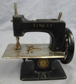 Antique Miniature Singer Sewing Machine photo