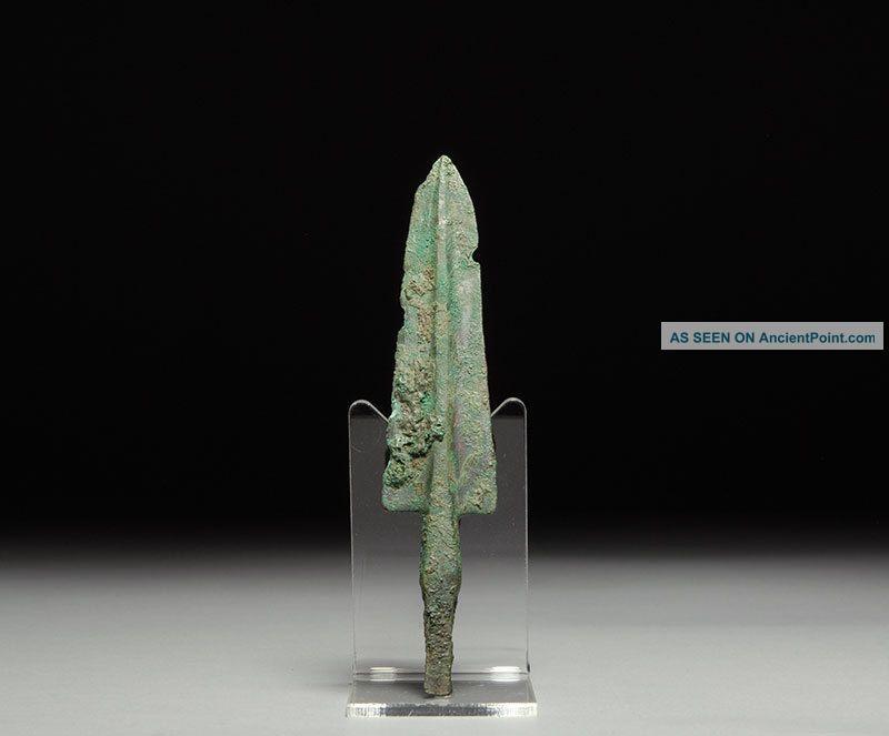 Ancient Persian Near Eastern Bronze Age Long Arrow / Spear Head Weapon Near Eastern photo