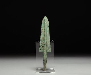 Ancient Persian Near Eastern Bronze Age Long Arrow / Spear Head Weapon photo