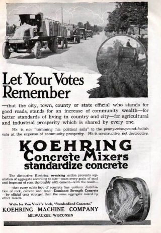 Fp 1920 Koehring Concrete Construction Cement Milwaukee photo