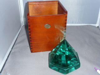 Ship ' S Deck Prism Green With Wooden Box Large Size photo
