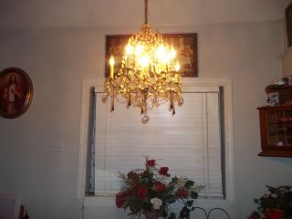 Elegant Antique Swarovski Crystal Chandelier photo