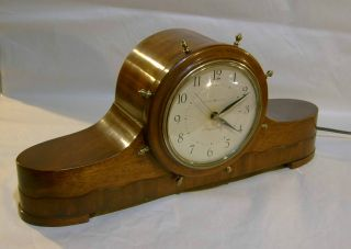 Vintage 1940 ' S G.  E Telechron Clock Ship ' S Bell 6b18 Nantucket Ships Bell Ge photo