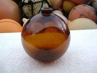 4+1/2 Inch Tall Northwest Glass Company Glass Float Amber Ball (310) photo