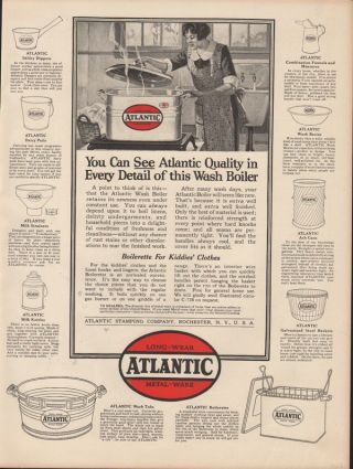 Fp 1923 Atlantic Metal Ware Cook Laundry Washing Machine Ohlson Rochester Strain photo