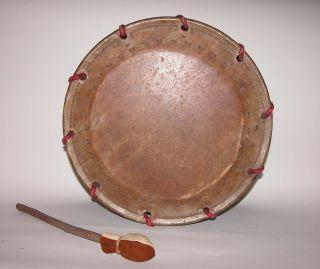 Antique Japanese Shimedaiko Drum In Noh Theater Plays,  (nodaiko) photo