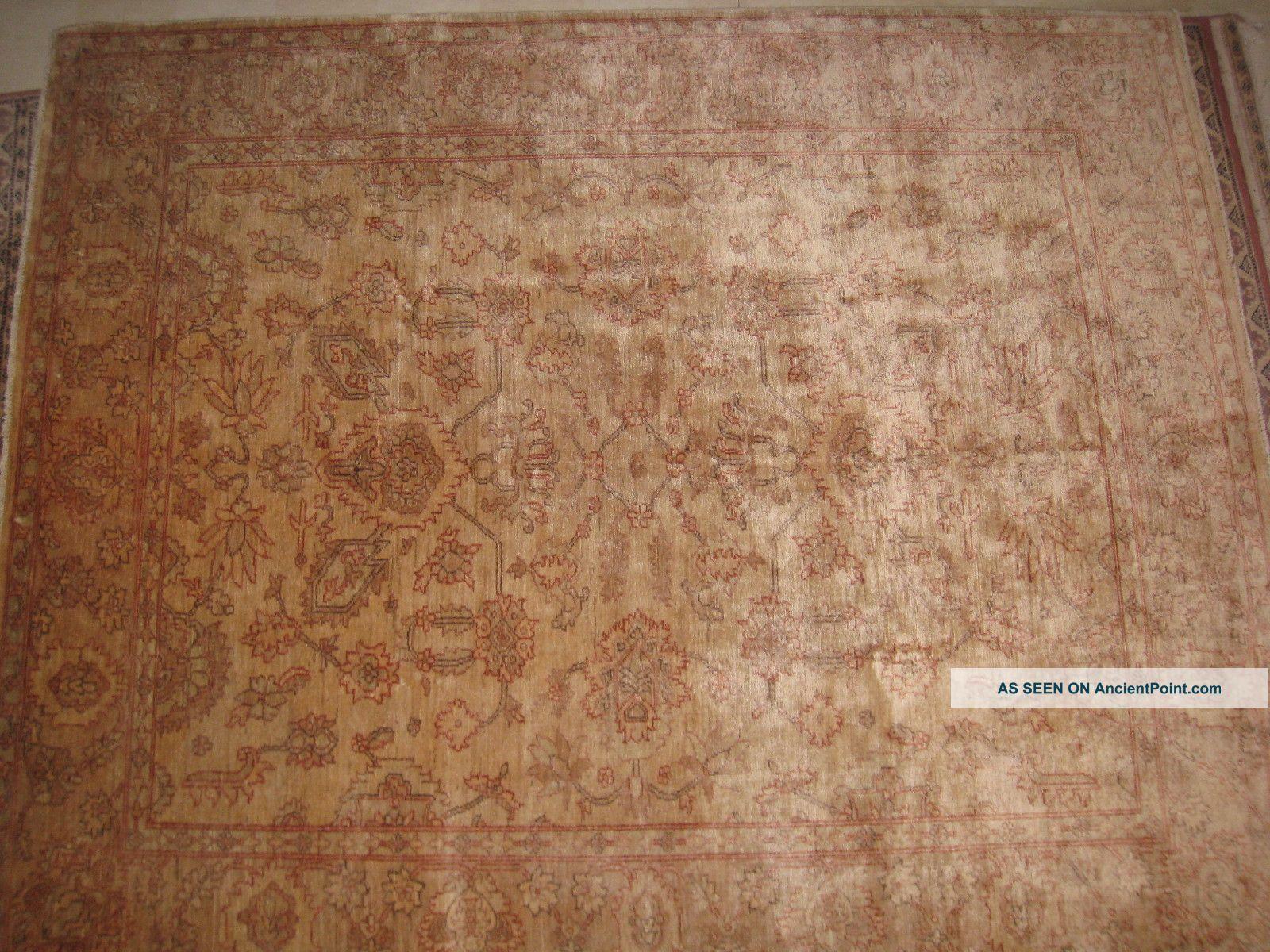 7 - 77 X6,  77 Veg Dyed Peshawar Carpet Antique Design Near Eastern photo