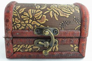 Asian Old Collectibles Decorated Wonderful Handwork Wood Flower Jewel Box Aaaaa photo