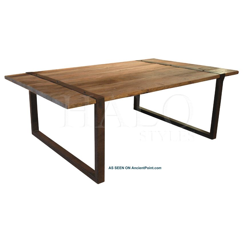 Elm & Iron Coffee Cocktail Table Industrial Mercantile Style Factory Beige New Other photo