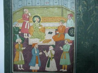 Painting Of King And Queen.  Gilt,  India photo