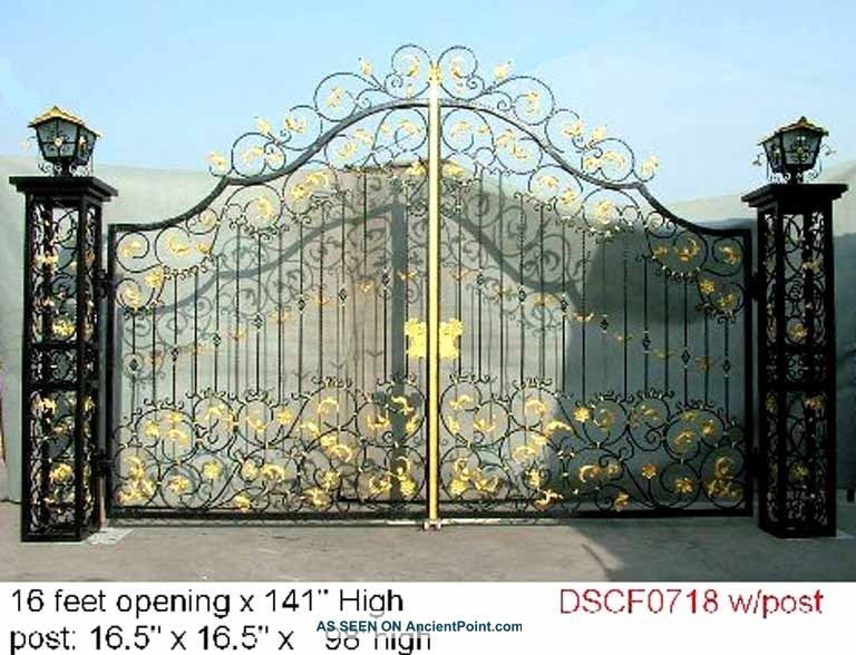 Iron gates fancy wrought