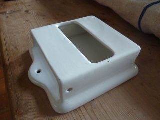 Vintage Jeyes Ceramic Toilet Paper Holder - Bristol photo
