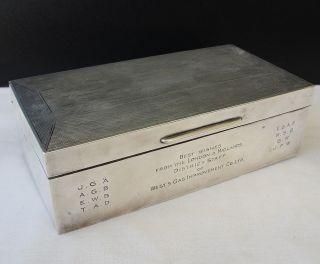 18 Oz Sterling Silver Cs Fs Lion M Cornelius Saunders Frank Shepherd 1927 Box photo