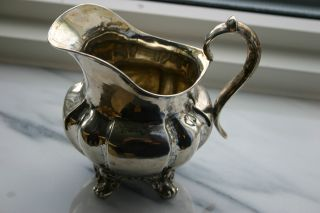 Antique Swedish Silver Cream Jug.  Dated 1851. photo