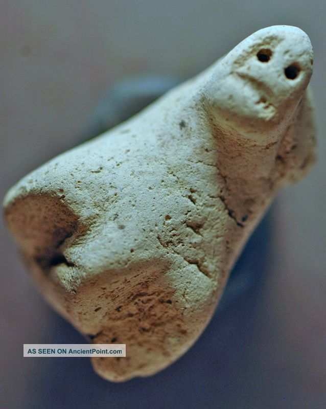Animal Bust,  Levantine Clay Over 3000 Years Old Nr Near Eastern photo