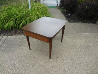 Vintage Mid - Century Modern American Of Martinsville Rattan Formica End Table Wow photo