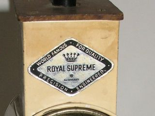 Antique Primitive Royal Supreme Cheese Nut Grater Grinder Germany photo