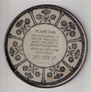 Antique Flame Pad,  Hot Pad,  E.  Bankes & Co. ,  Metal Trivet,  Vintage Hot Pad, photo