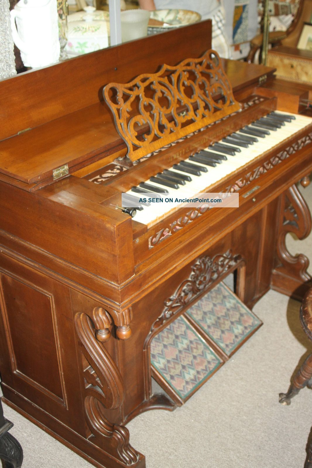 Antique Jewett & Goodman Reed Melodeon/pump Organ - 1860s Fully Restored Keyboard photo