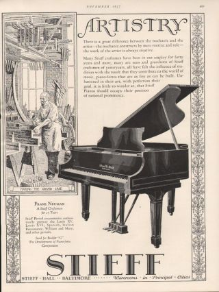 Fp 1927 Stieff Franz Neuman Baltimore Piano Grand Case Music Instrument Louis Xv photo