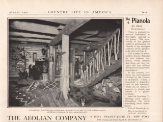 Fp 1902 Aeolian Pianola Piano Music Lieutenant Governor Woodruff Log Cabin Killk photo