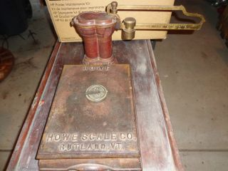 Vintage Howe Scale,  Red & Brass Great Patina photo