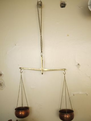 Antique Scales Copper Brass photo