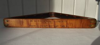 Gorgeous Antique Tiger Maple Brunswick Billiard Ball Pool Table Rack 15 X 2 1/4