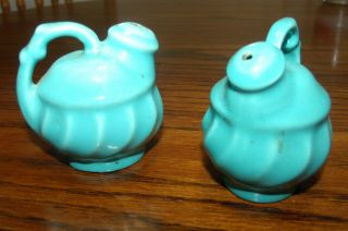 Sweet Little Salt And Pepper Shakers Turquise Blue photo