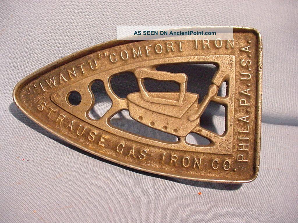 Advertising Sad Iron Trivet Strause Gas Iron