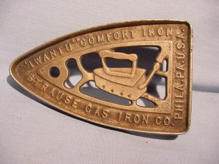 Advertising Sad Iron Trivet Strause Gas Iron