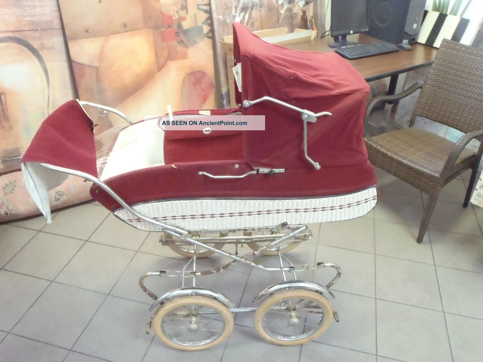 Vintage 1970 ' S Peg Perego Pram Carriage & Stroller Combo Baby Carriages & Buggies photo