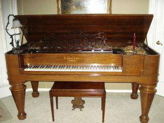Exquisite Antique Square Parlor Grand Piano Circa 1869 photo