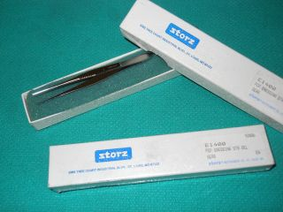 Medical Micro Eye Dressing Forceps New In Box Set Of 2 photo