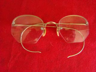 Vtg Shuron 12kt Gf Eyeglasses That Wrap Around Ear - Art Deco Designs photo