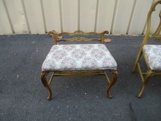 51328 French Country Vanity Bench + Chair photo