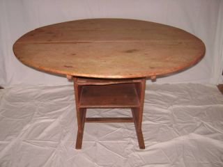 18th Century Shoe Foot Chair Table American Maine photo