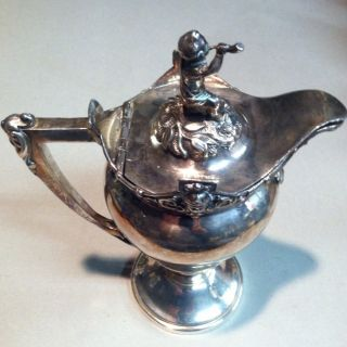 Vintage Silver Plated Claret Jug From Early 1900 ' S photo