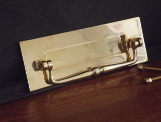 Brass Traditional Letterplate With Clapper Letter Box photo