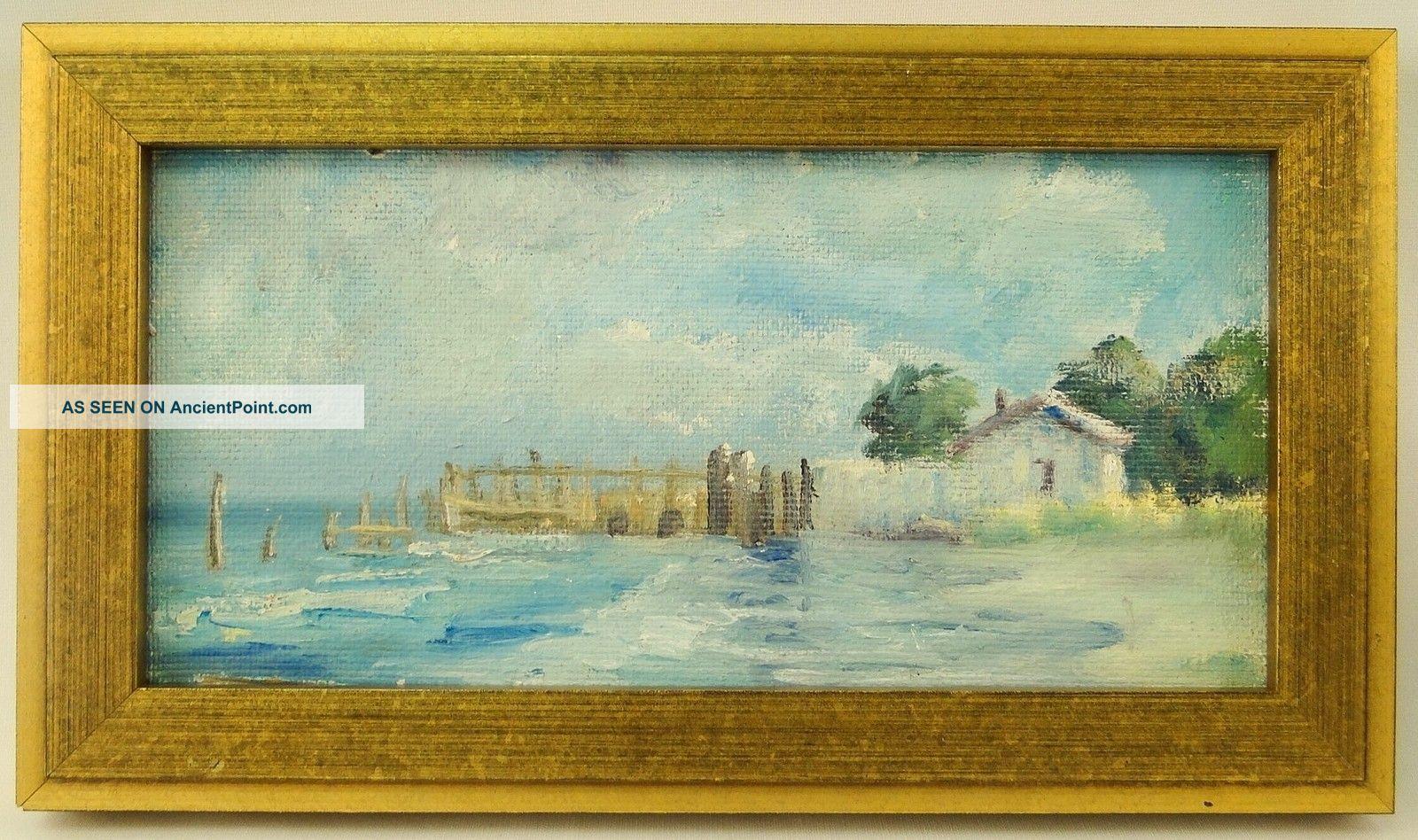 American A Hardenbergh (1915 - 1999) O/c Impressionist Beach Boca Grande Painting Other photo