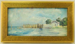 American A Hardenbergh (1915 - 1999) O/c Impressionist Beach Boca Grande Painting photo