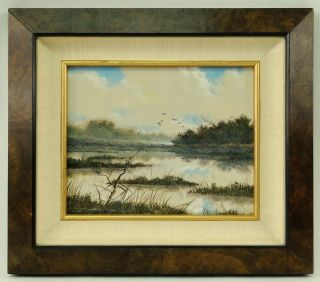 Frank Magsino American Impressionist Landscape Marsh Painting photo