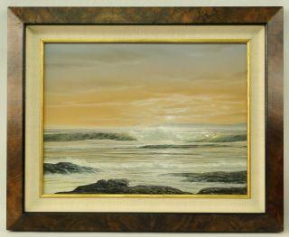 Frank Magsino American Impressionist Illuminated Nautical Seascape Painting photo
