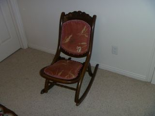 1930 ' S Folding Rocking Chair (maple) photo