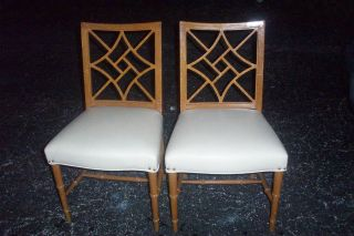 2 Antique Vintage Rway Rahway Dining Room Chairs Maple Finish photo