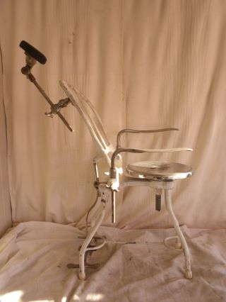 Antique Dentist Chair,  Mobile/traveling Doctor,  Barber Portable Steampunk Seat photo